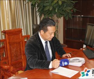 福建电视台到我校采访西山教育集团董事长兼总校长张文彬