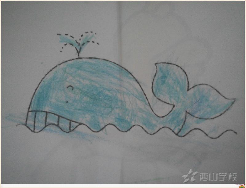 幼儿园画画鲸鱼