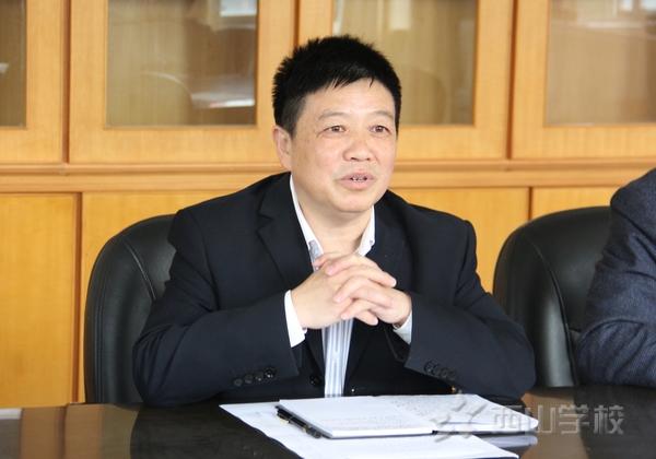 福清市教育局副局长陈躬亮等领导莅临西山学校指导二级达标校创建工作