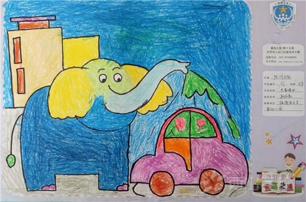 幼儿园大象画画作品图
