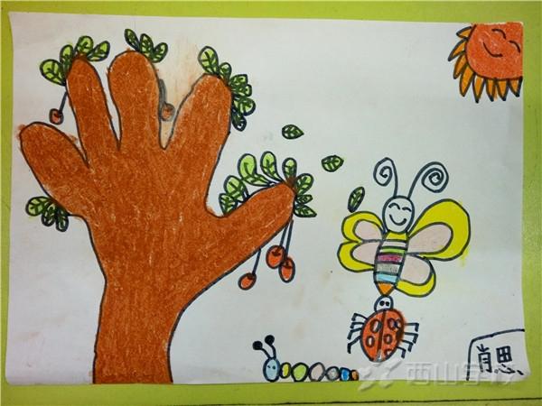 肖思浩 《手掌画》快乐二班 福清西山学校幼儿园图片