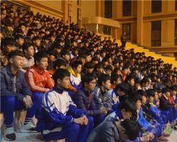江西省西山学校高中部高二年级召开期末考试动员大会