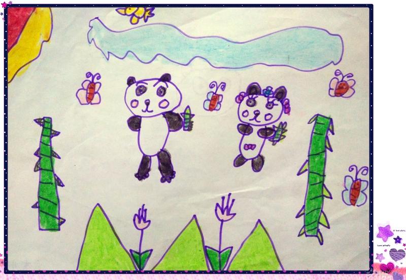 福清西山学校幼儿园快乐一班2017年6月幼儿作品展