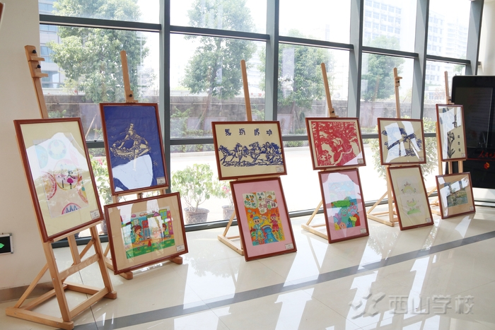 """【一周一校一展】西山学校举行""""书美丽青春,绘精彩校园""""艺术作品展"""